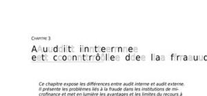 Audit interne des institutions de microfinance