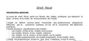 Droit fiscale:le taux  et le mode  de  recouvrement  de l'impôt.