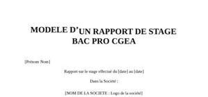 Rapport de Stage Bac Pro CGEA