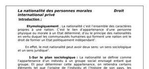 La nationalité des personnes morales