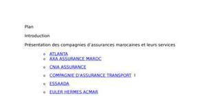 Compagnies d'assurances marocaines