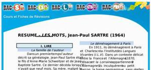 Résumé Les Mots de Jean-Paul Sartre