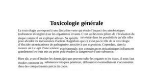Cours de toxicologie générale
