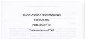 Sujet Philosophie STG 2012