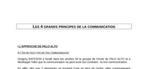 Les 4 grands principes de la communication