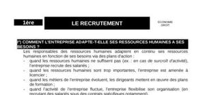Le recrutement dans les ressources humaines