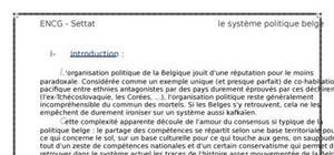 Le systeme politique belge