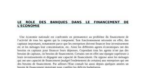 Le rôle des banques dans le financement de l'économie