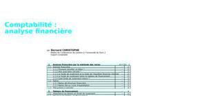 Comptabilite analyse financiere