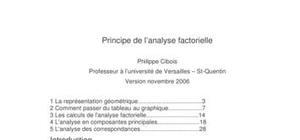Principe de l'analyse factorielle