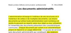 Les documents administratifs