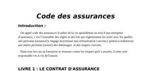 Code des assurances au maroc
