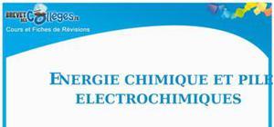 Les piles électrochimiques : Fiche de révision Brevet