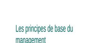 Les principes de base du management