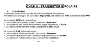 Polarisation du transistor