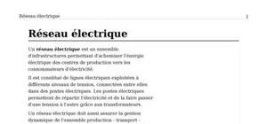 Reseau electrique de distributionet de repartion