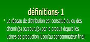 Le reseau de distribution