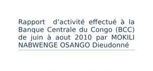 Implémentation des ifrs à la banque centrale du congo