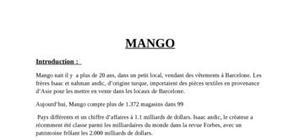 Exposé sur l'entreprise espagnole mango