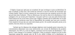 Les acteurs de la distribution des produits alimentaires en algérie dans les années 70