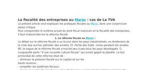La fiscalité des entreprises au maroc