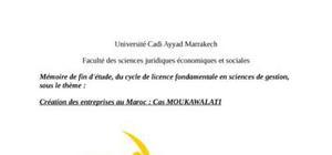 Creation des entreprises au maroc : cas moukawalati