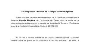 Les origines et l'histoire de la langue luxembourgeoise