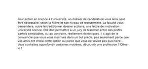 Lettre de Motivation Université Licence