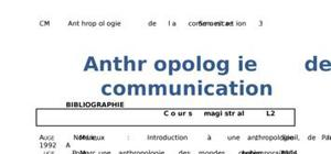 Anthropologie de la communication