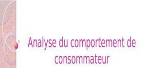 L'analyse de comportement du consommateur