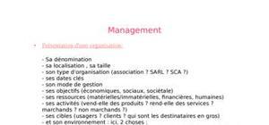 Management , des notions à savoir pour le bac