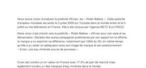 Analyse de publicité Evian : Roller Babies