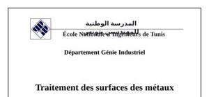 Traitements de surfaces des métaux
