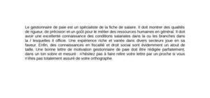 Lettre de motivation gestionnaire de paie for Cuisinier 7 lettres