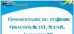 Commentaire de texte : Jean Giraudoux, « Amphitryon 38 », Acte 1, Scène 5
