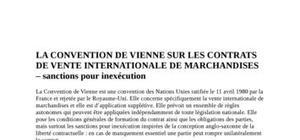 La convention de vienne sur les contrats de vente internationale de marchandises