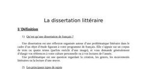 Conseils pour une bonne dissertation