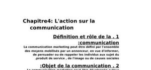 l'action sur la communication