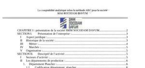 La comptabilité analytique selon la méthode abc