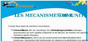 Les mécanismes de l'immunité : Cours terminale S