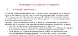 Investissment et pb d'investissment