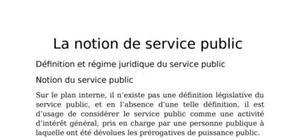 La notion de service public