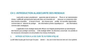 Securite reseaux introduction