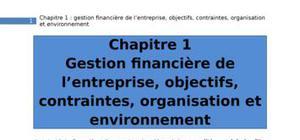 Intro finance chapitre 1