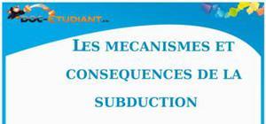 Les mécanismes de la subduction : Cours Terminale S