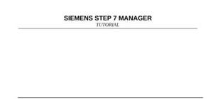 Step7 manager siemens