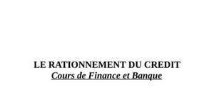 Rationnement de crédit