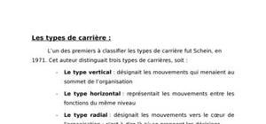 Les types de carrieres
