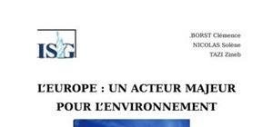 L'europe : un acteur majeur pour l'environnement
