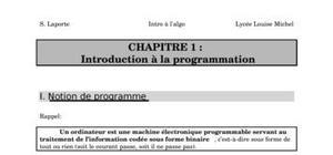 Programmation en generale